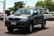 2015 Toyota Hilux KUN26R MY14 SR Double Cab Graphite 5 Speed Manual Dual Cab Chassis The Gardens Darwin City Preview