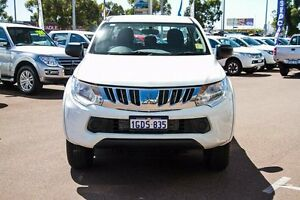 2016 Mitsubishi Triton MQ MY16 GLX White 6 Speed Manual Dual Cab Utility Wilson Canning Area Preview