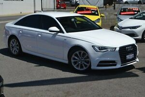 2015 Audi A6 4G MY15 S Line S tronic White 7 Speed Sports Automatic Dual Clutch Sedan Claremont Nedlands Area Preview