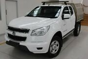 2014 Holden Colorado RG MY14 LX Space Cab White 6 Speed Manual Cab Chassis Moonah Glenorchy Area Preview