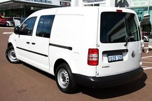2012 Volkswagen Caddy 2KN MY12 TDI250 Maxi DSG White 7 Speed Sports Automatic Dual Clutch Van Cannington Canning Area Preview