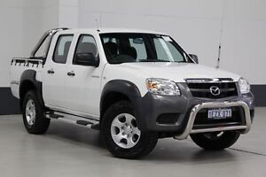 2011 Mazda BT-50 09 Upgrade Boss B3000 DX (4x4) White 5 Speed Manual Dual Cab Pick-up Bentley Canning Area Preview