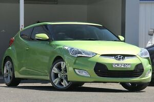 2013 Hyundai Veloster FS MY13 + Green 6 Speed Auto Dual Clutch Coupe Wolli Creek Rockdale Area Preview