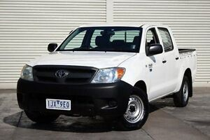 2007 Toyota Hilux TGN16R MY07 Workmate White 5 Speed Manual Utility Seaford Frankston Area Preview