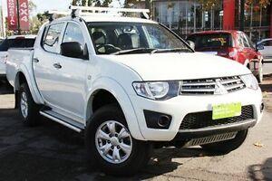 2013 Mitsubishi Triton MN MY13 GLX Double Cab White 5 Speed Manual Utility Hillcrest Port Adelaide Area Preview