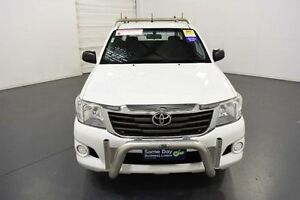 2014 Toyota Hilux GGN15R MY14 SR Xtra Cab White Automatic Utility Moorabbin Kingston Area Preview