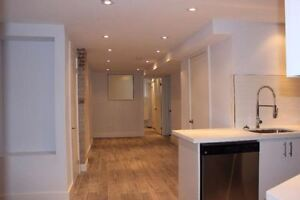 2 bedroom basement apartment newly renovated Available Now!