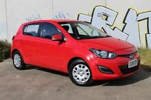 2012 Hyundai i20 PB MY13 Active Red 4 Speed Automatic Hatchback Derwent Park Glenorchy Area Preview