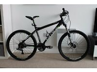 "Carrera Vulcan Mountain Bike. 20"" Frame. With Hydaulic Brakes and Fork Lockout. 24 gears."