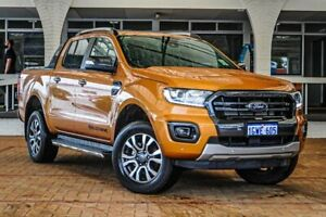 2019 Ford Ranger PX MkIII 2019.00MY Wildtrak Pick-up Double Cab Orange 10 Speed Sports Automatic Melville Melville Area Preview