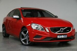 2013 Volvo S60 F Series MY13 T6 Geartronic AWD R-Design Red 6 Speed Sports Automatic Sedan Southbank Melbourne City Preview