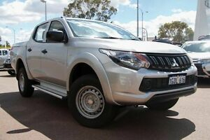2016 Mitsubishi Triton MQ MY16 GLX (4x4) Sterling Silver 6 Speed Manual Dual Cab Utility Wilson Canning Area Preview