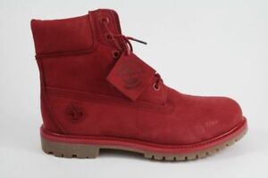 Timberlands rouge taille 7US femme