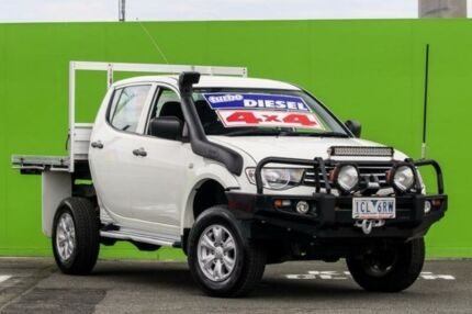2014 Mitsubishi Triton MN MY15 GLX-R Double Cab White 5 Speed Manual Utility Ringwood East Maroondah Area Preview