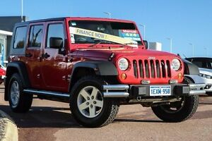 2008 Jeep Wrangler JK Unlimited Sport Red 6 Speed Manual Softtop East Rockingham Rockingham Area Preview
