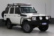 2013 Toyota Landcruiser VDJ76R MY12 Update Workmate (4x4) White 5 Speed Manual Wagon Bentley Canning Area Preview