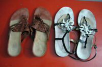Clark Women Sandals Leather Upper, Very Good Condition