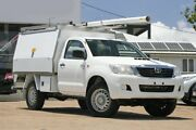 2012 Toyota Hilux KUN26R MY12 SR White 5 Speed Manual Cab Chassis Moorooka Brisbane South West Preview