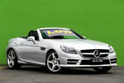 2013 Mercedes-Benz SLK250 R172 7G-Tronic + Silver 7 Speed Sports Automatic Roadster Ringwood East Maroondah Area Preview