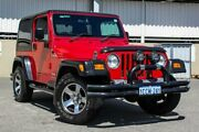 2005 Jeep Wrangler TJ Sport (4x4) Red 6 Speed Manual Softtop Cannington Canning Area Preview