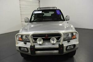 2001 Mitsubishi Pajero NM Exceed LWB (4x4) Silver 5 Speed Manual Wagon Moorabbin Kingston Area Preview