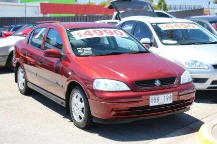2000 Holden Astra TS CD Red 4 Speed Automatic Hatchback