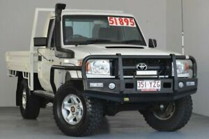 2013 Toyota Landcruiser VDJ79R MY13 GX White 5 Speed Manual Cab Chassis Kedron Brisbane North East Preview
