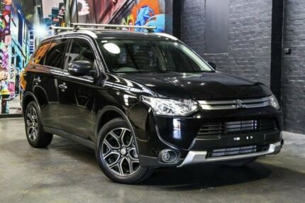 2014 Mitsubishi Outlander ZJ MY14.5 Aspire 4WD Black 6 Speed Sports Automatic Wagon