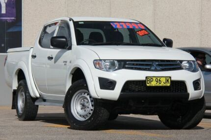 2012 Mitsubishi Triton MN MY12 GLX (4x4) White 4 Speed Automatic 4x4 Dual Cab Utility Arncliffe Rockdale Area Preview