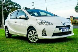 2014 Toyota Prius c NHP10R E-CVT White 1 Speed Constant Variable Hatchback Hybrid Wangara Wanneroo Area Preview