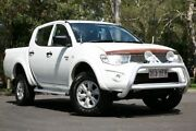 2012 Mitsubishi Triton GL- R 4x4 White 5 Speed Manual Dual Cab Slacks Creek Logan Area Preview