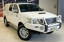 2011 Toyota Hilux KUN26R MY12 SR5 Double Cab White 5 Speed Manual Utility Blacktown Blacktown Area Preview