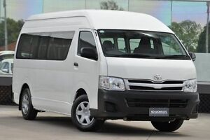2011 Toyota Hiace TRH223R MY11 Commuter High Roof Super LWB Solid White 4 Speed Automatic Bus Old Guildford Fairfield Area Preview