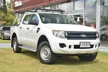 2012 Ford Ranger PX XL Double Cab 4x2 Hi-Rider White 6 Speed Sports Automatic Utility Valley View Salisbury Area Preview