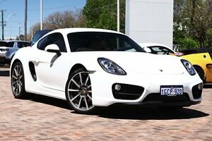 2016 Porsche Cayman 981 MY16 PDK White 7 Speed Sports Automatic Dual Clutch Coupe Osborne Park Stirling Area Preview