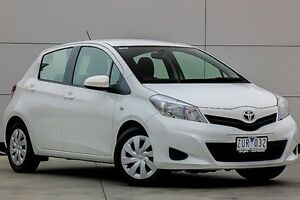 2013 Toyota Yaris NCP131R YRS White 4 Speed Automatic Hatchback Pakenham Cardinia Area Preview