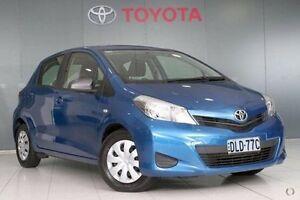 2012 Toyota Yaris NCP130R YR Caribbean Blue 4 Speed Automatic Hatchback Glebe Inner Sydney Preview
