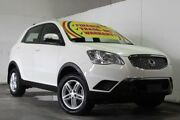 2013 Ssangyong Korando C200 MY13 S White 6 Speed Manual Wagon Underwood Logan Area Preview