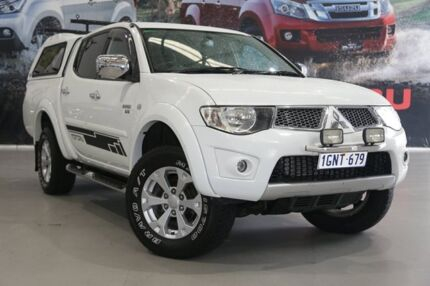 2013 Mitsubishi Triton MN MY12 GLX-R (4x4) White 5 Speed Automatic 4x4 Double Cab Utility Rockingham Rockingham Area Preview