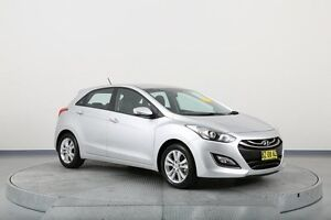 2014 Hyundai i30 GD2 MY14 Trophy Silver 6 Speed Sports Automatic Hatchback Old Guildford Fairfield Area Preview