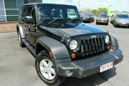2007 Jeep Wrangler JK Unlimited Sport Black 4 Speed Automatic Softtop