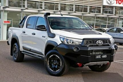 2018 Toyota Hilux GUN126R Rugged X Double Cab White 6 Speed Sports Automatic Utility Strathmore Moonee Valley Preview