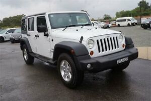 2013 Jeep Wrangler JK MY2013 Unlimited Sport White 6 Speed Manual Softtop Elderslie Camden Area Preview