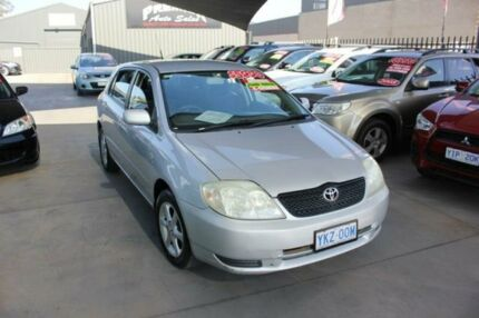2003 Toyota Corolla ZZE122R Conquest Seca Silver 4 Speed Automatic Hatchback Mitchell Gungahlin Area Preview