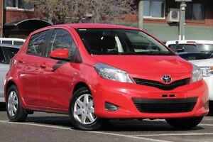 2013 Toyota Yaris NCP130R YR Cherry 5 Speed Manual Hatchback Christies Beach Morphett Vale Area Preview