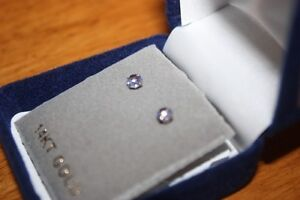Beautiful 14k gold tanzanite stud earrings. London Ontario image 1