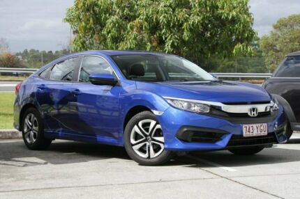 2017 Honda Civic 10th Gen MY17 VTi Blue 1 Speed Constant Variable Sedan Springwood Logan Area Preview
