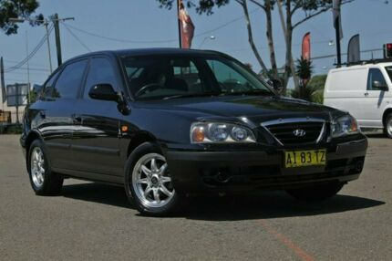 2005 Hyundai Elantra XD MY05 FX Black 4 Speed Automatic Hatchback Condell Park Bankstown Area Preview