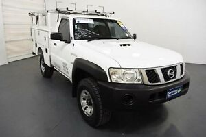 2011 Nissan Patrol MY11 Upgrade DX (4x4) White 5 Speed Manual Cab Chassis Moorabbin Kingston Area Preview