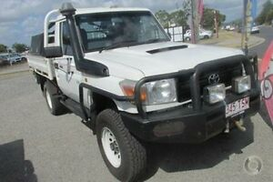 2009 Toyota Landcruiser VDJ79R MY10 Workmate White 5 Speed Manual Cab Chassis Mackay Mackay City Preview